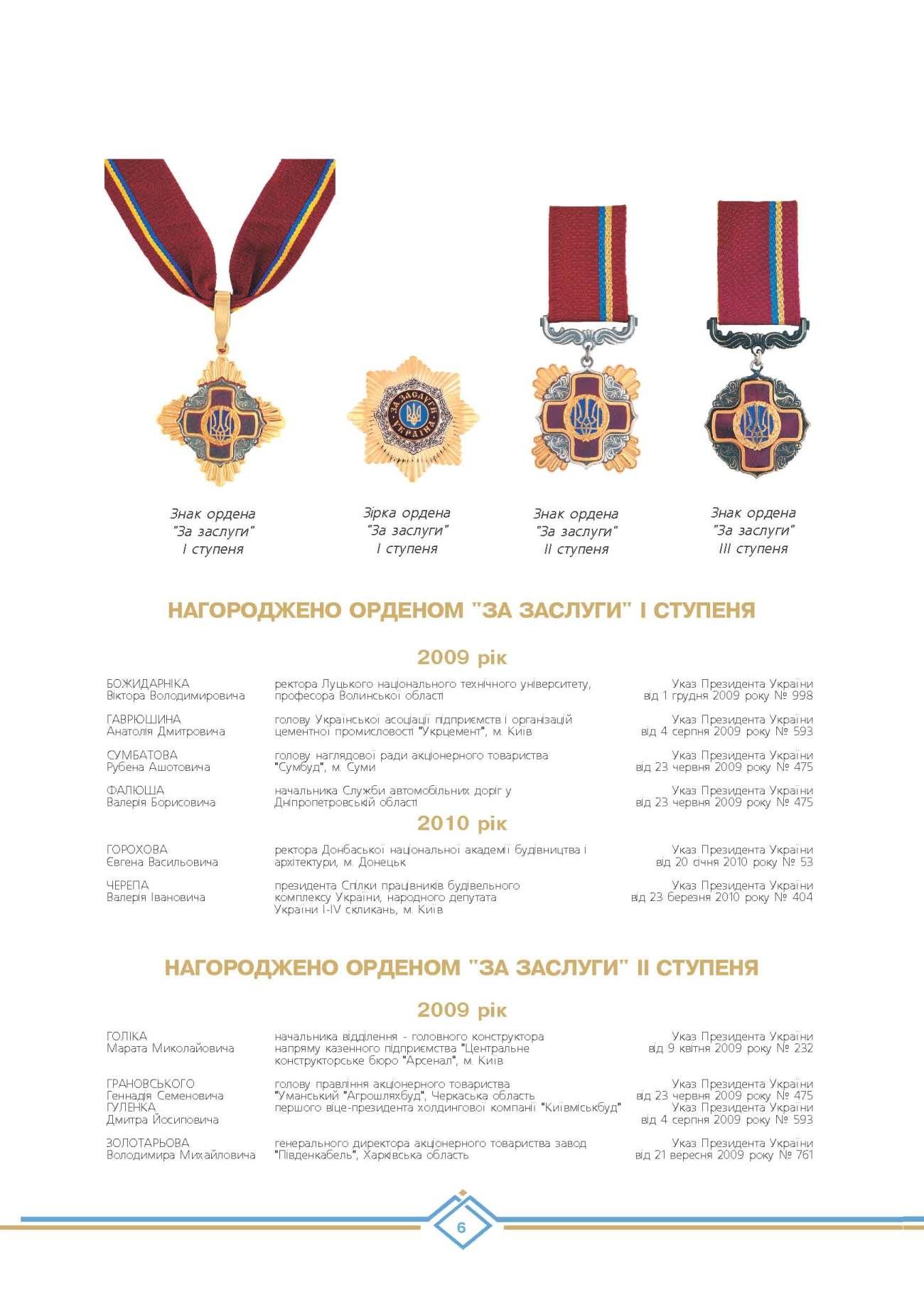 Кавалери ордена