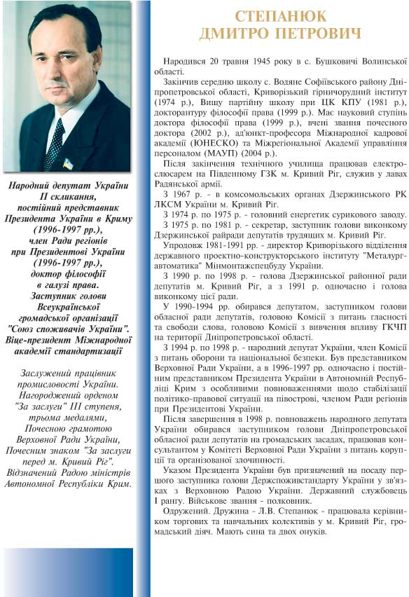 СТЕПАНЮК ДМИТРО ПЕТРОВИЧ - ЗАСТУПНИК ГОЛОВИ ВСЕУКРАЇНСЬКОЇ ГРОМАДСЬКОЇ ОРГАНІЗАЦІЇ