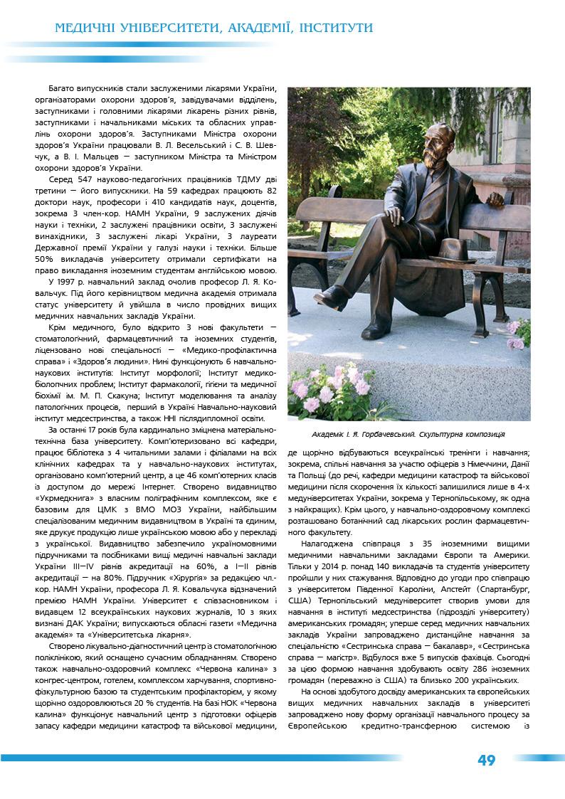 Тернопільський державний медичний університет імені І.Я. Горбачевського
