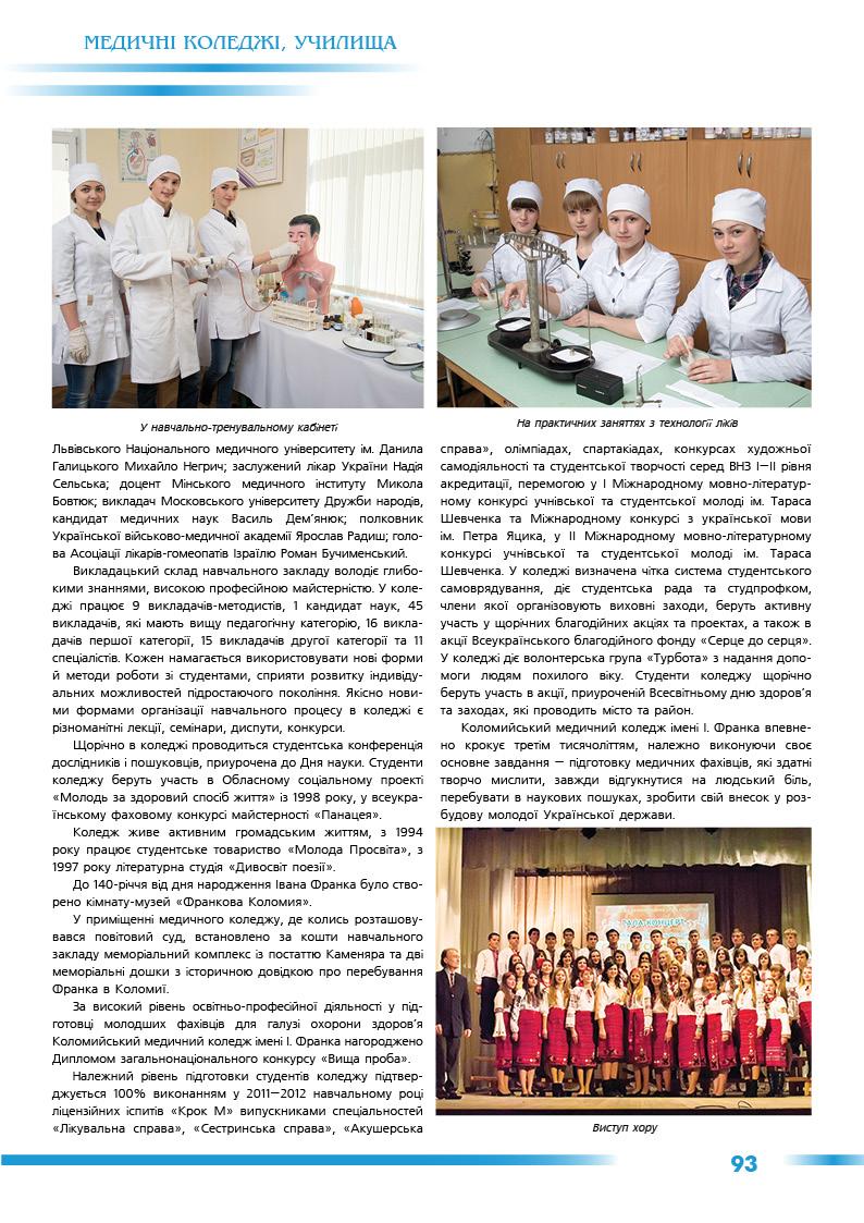 Коломийський медичний коледж імені Івана Франка
