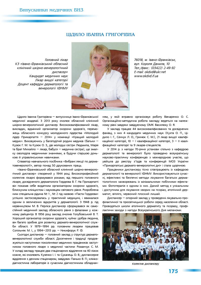 Цідило Іванна Григорівна