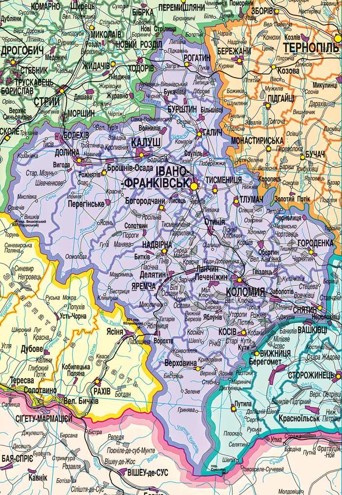 2008 карта івано франківської області