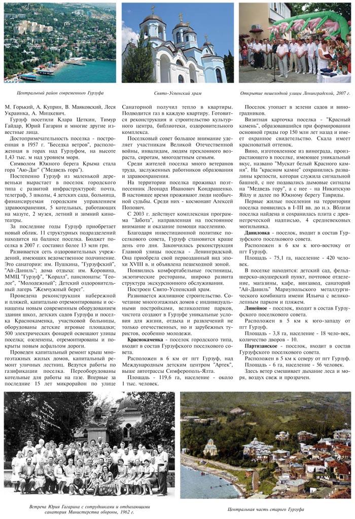 ПОСЕЛОК ГОРОДСКОГО ТИПА ГУРЗУФ