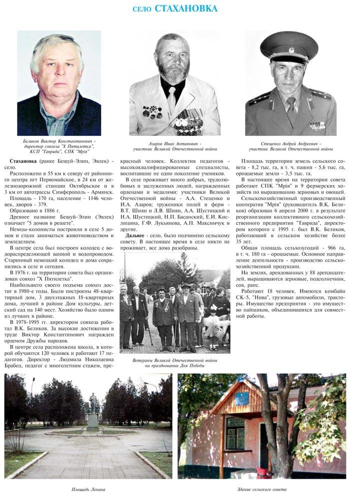 СЕЛО СТАХАНОВКА