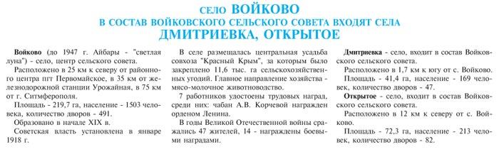 СЕЛО ВОЙКОВО