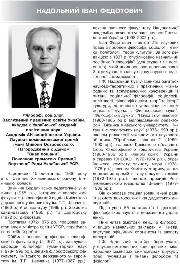 НАДОЛЬНИЙ ІВАН ФЕДОТОВИЧ