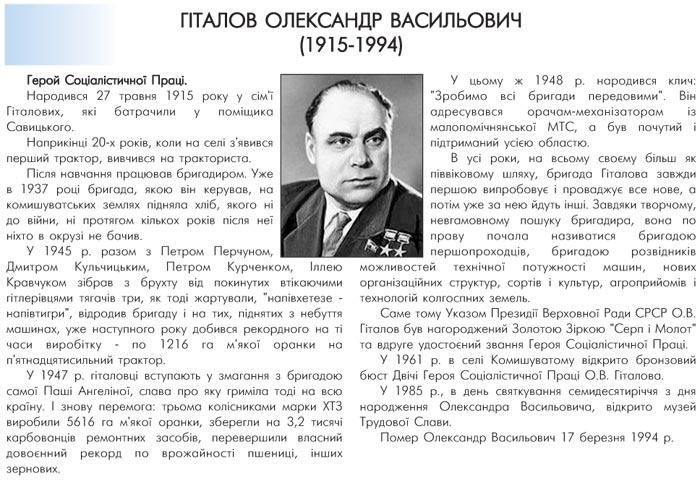ГІТАЛОВ ОЛЕКСАНДР ВАСИЛЬОВИЧ (1915-1994)