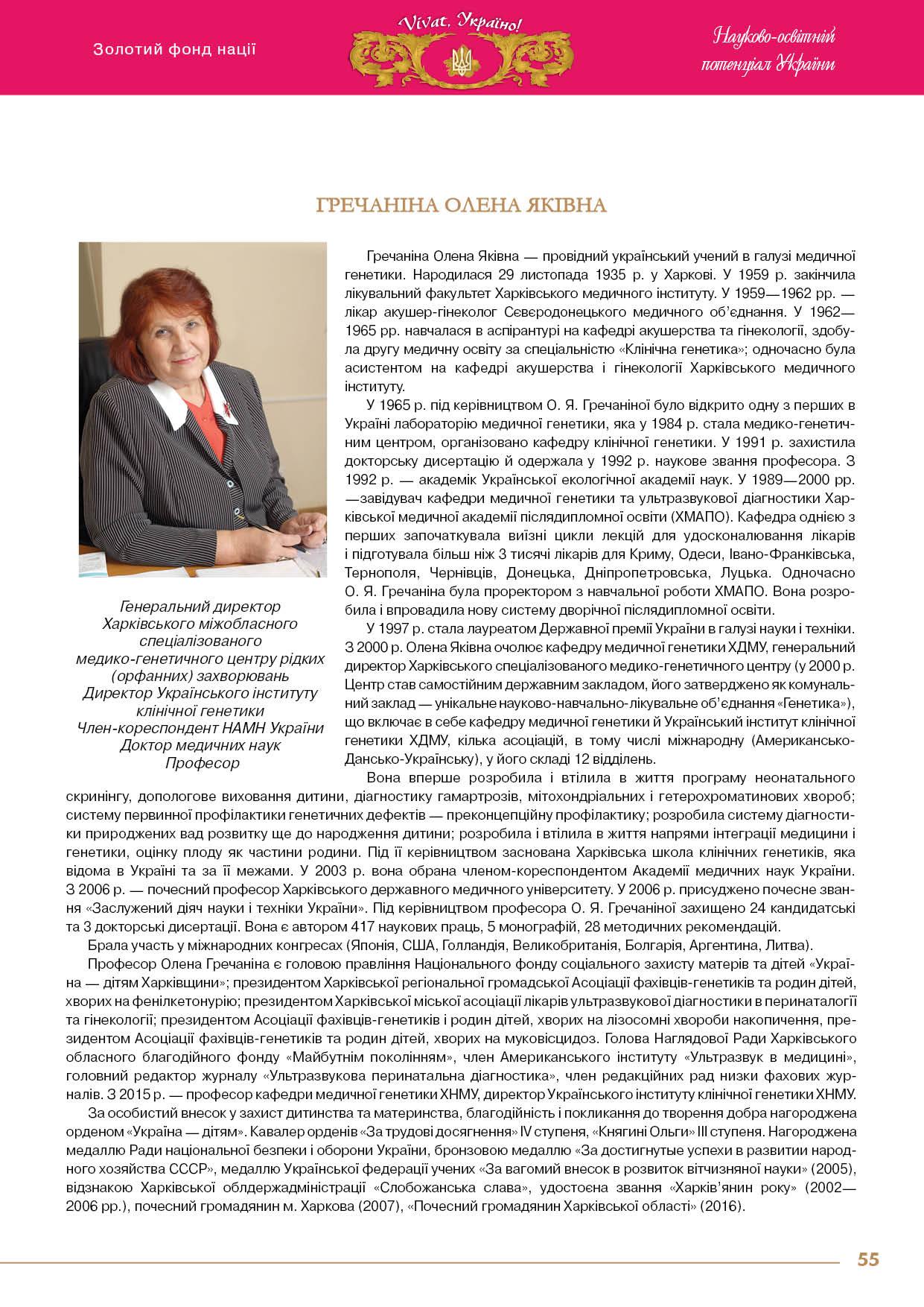 Гречаніна Олена Яківна