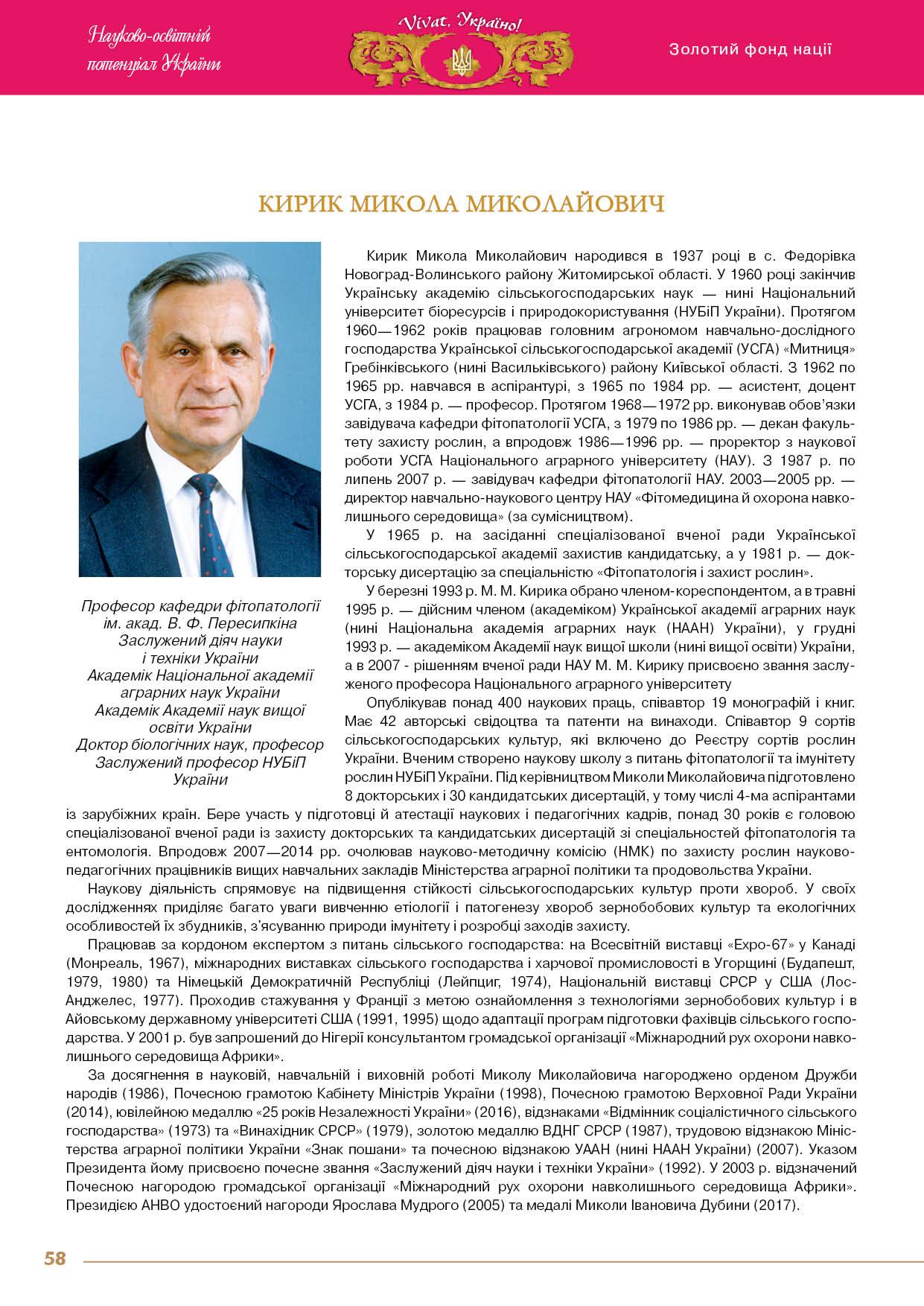 Кирик Микола Миколайович