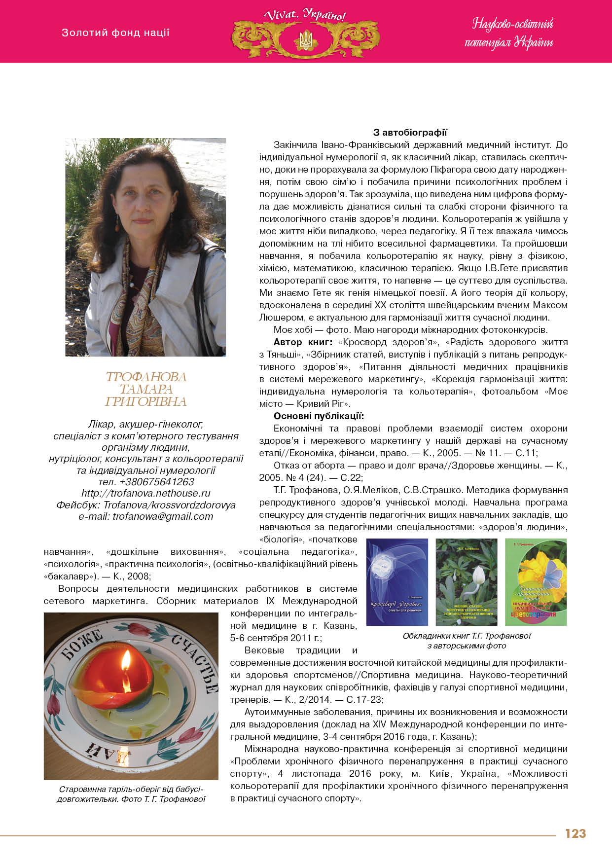 Трофанова Тамара Григорівна
