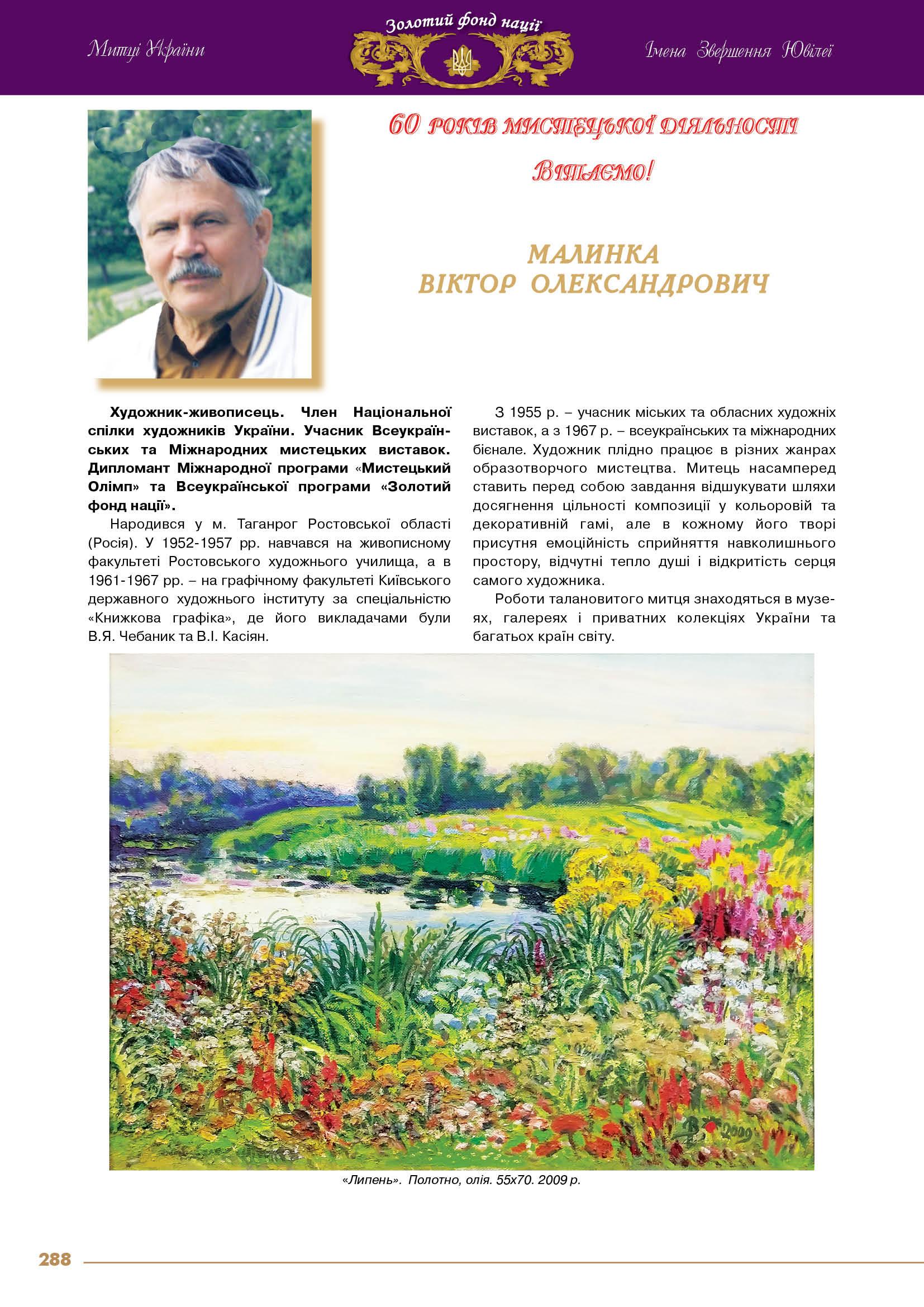 Малинка  Віктор  Олександрович