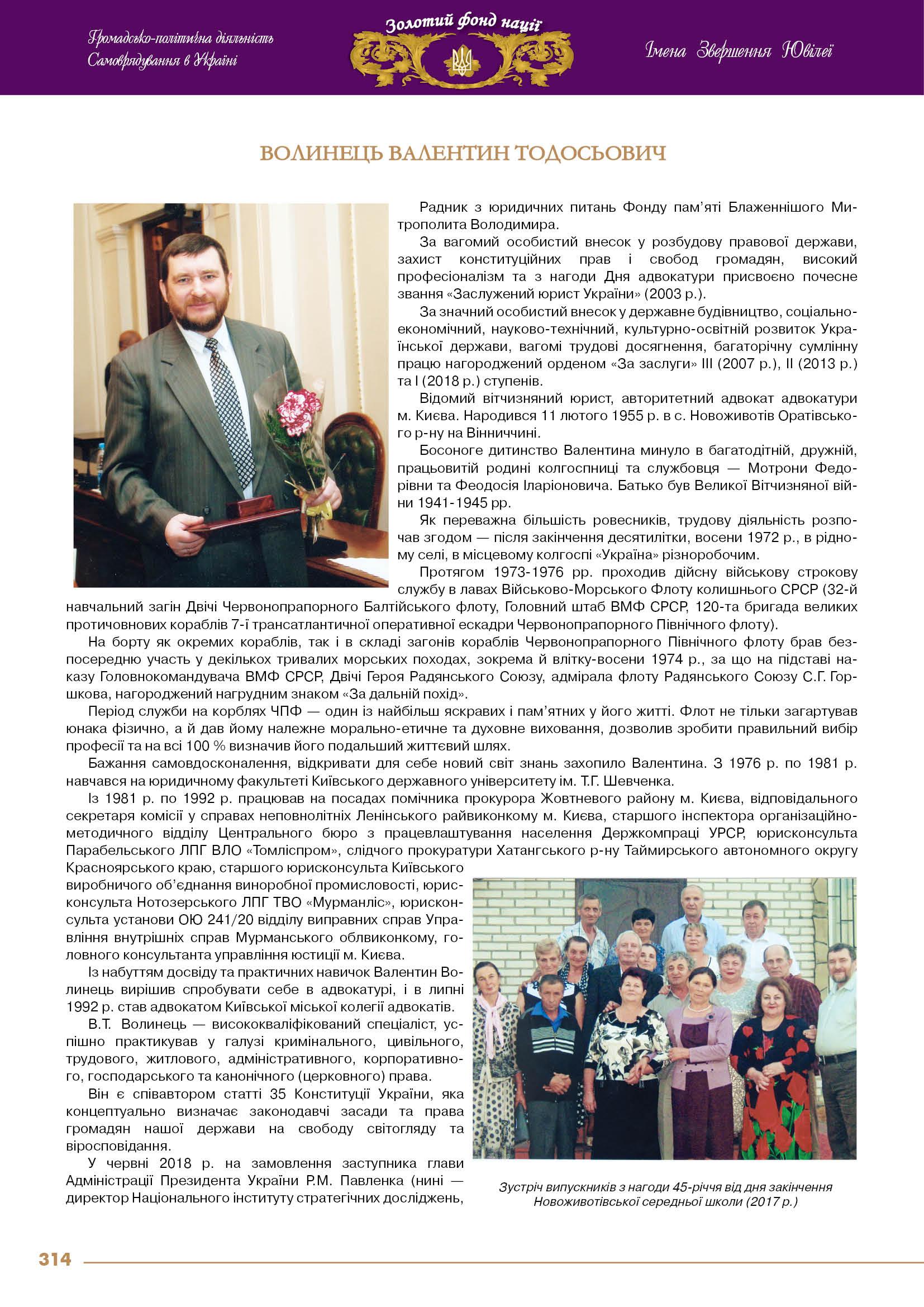 Волинець Валентин Тодосьович