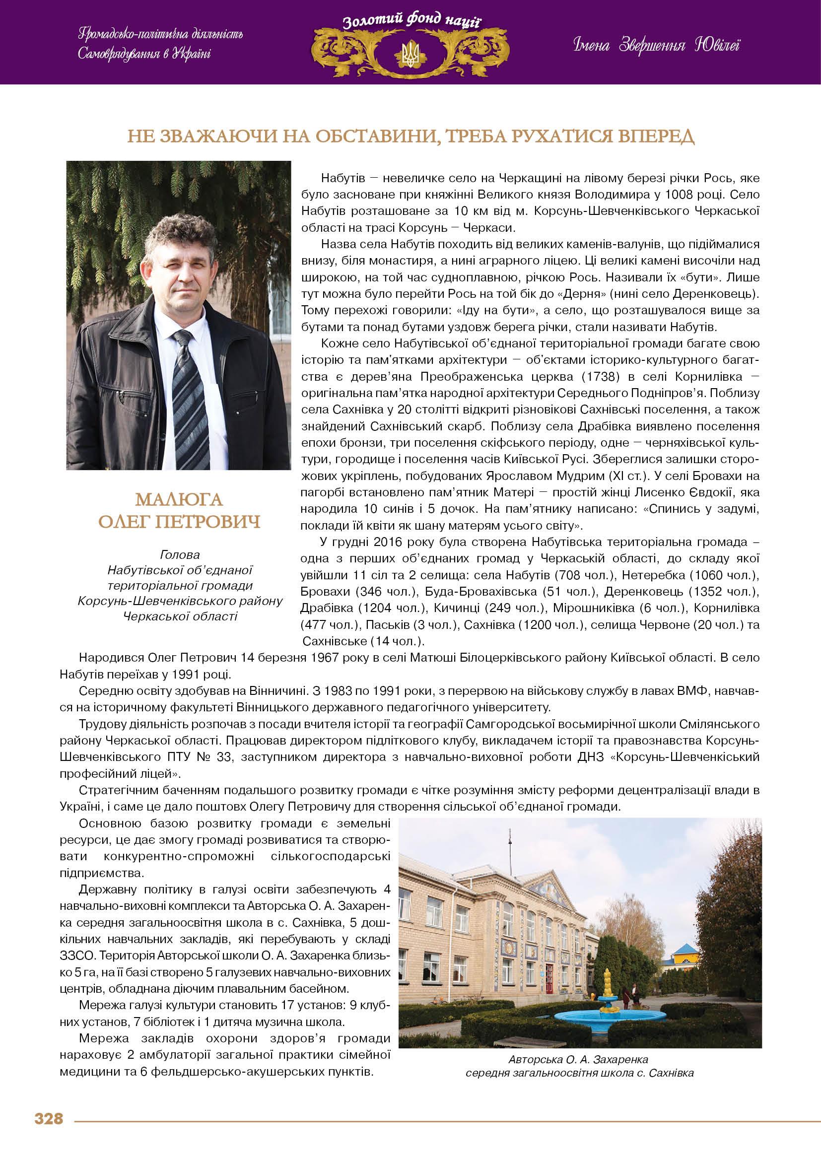 Малюга Олег Петрович