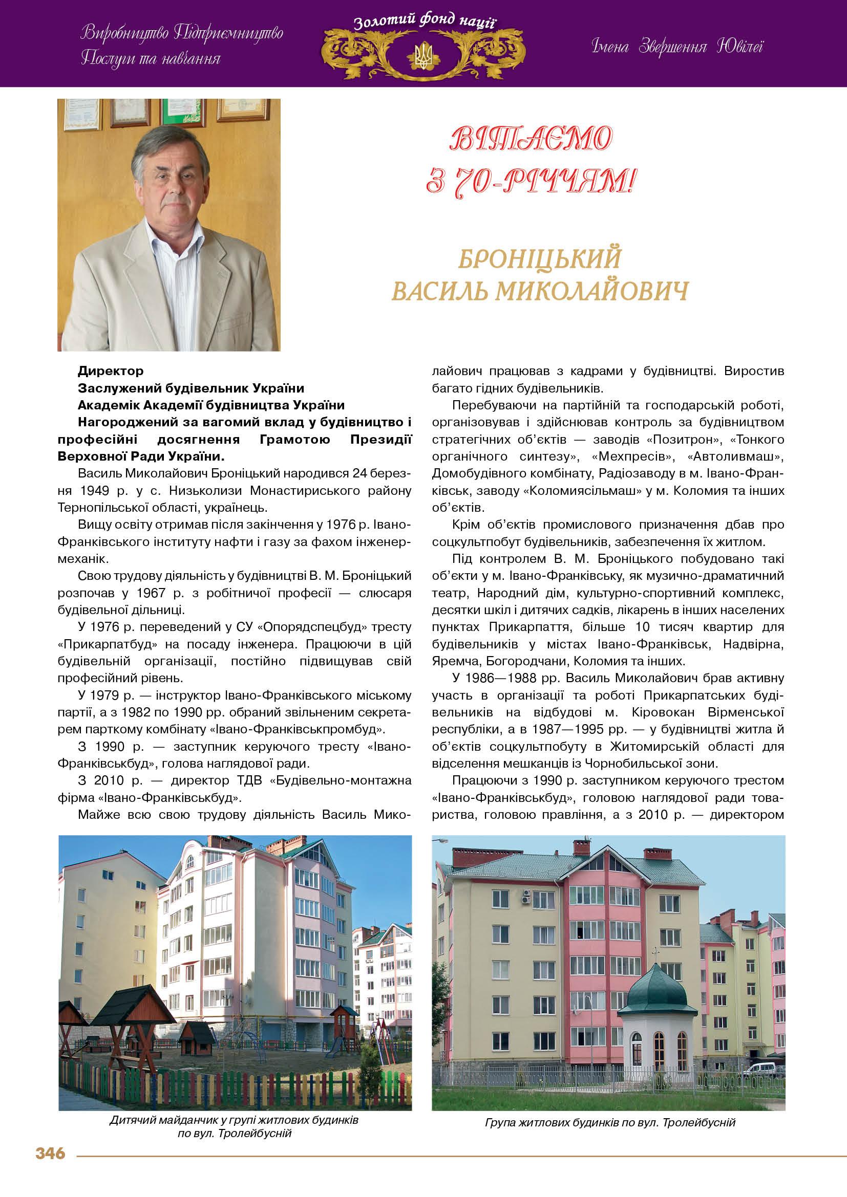 Броніцький  Василь Миколайович
