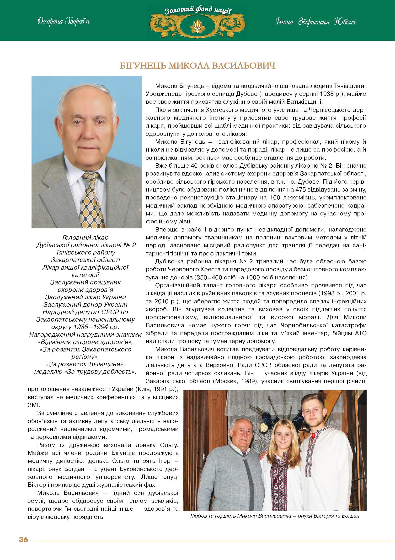 Бігунець Микола Васильович