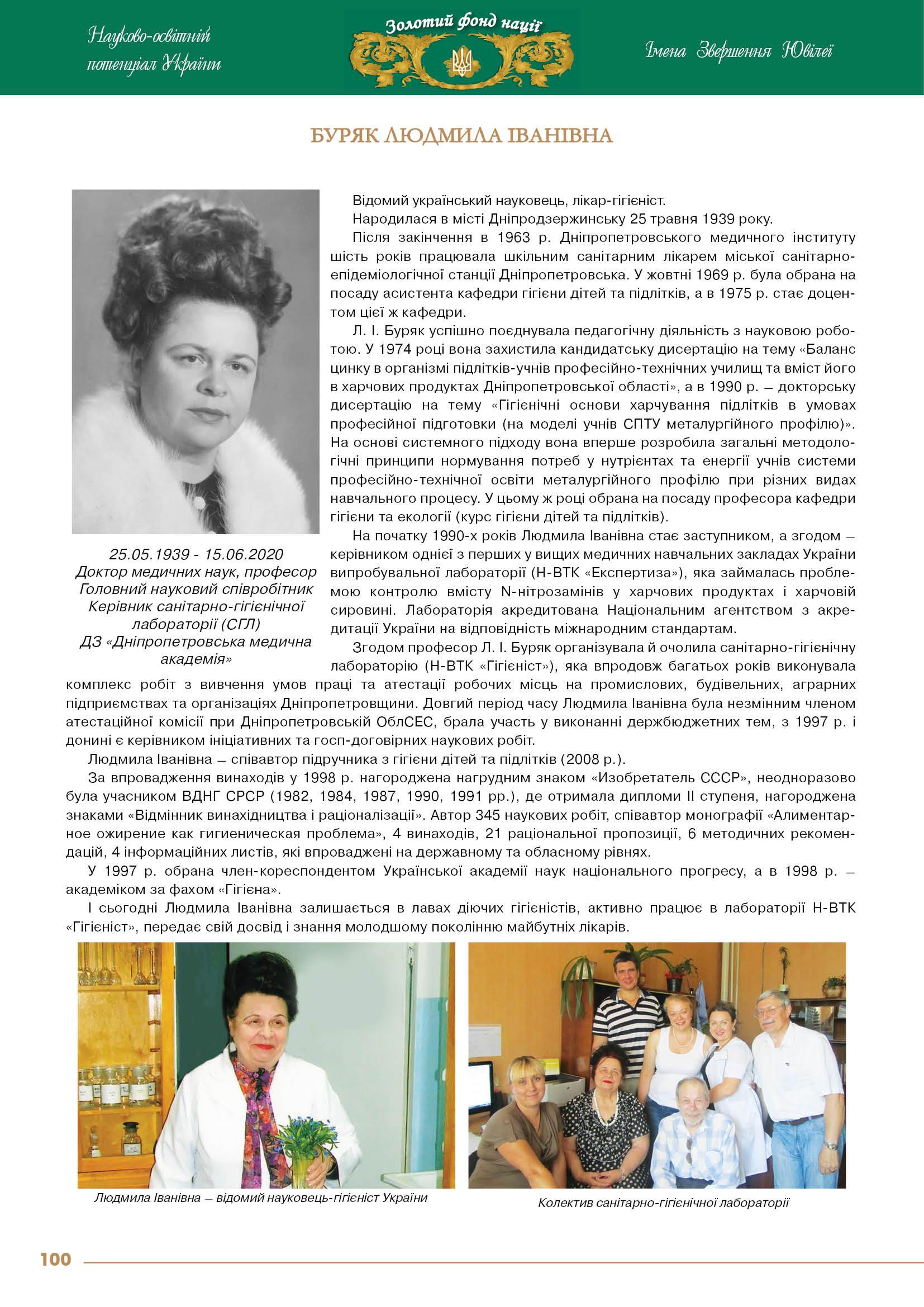 Буряк Людмила Іванівна
