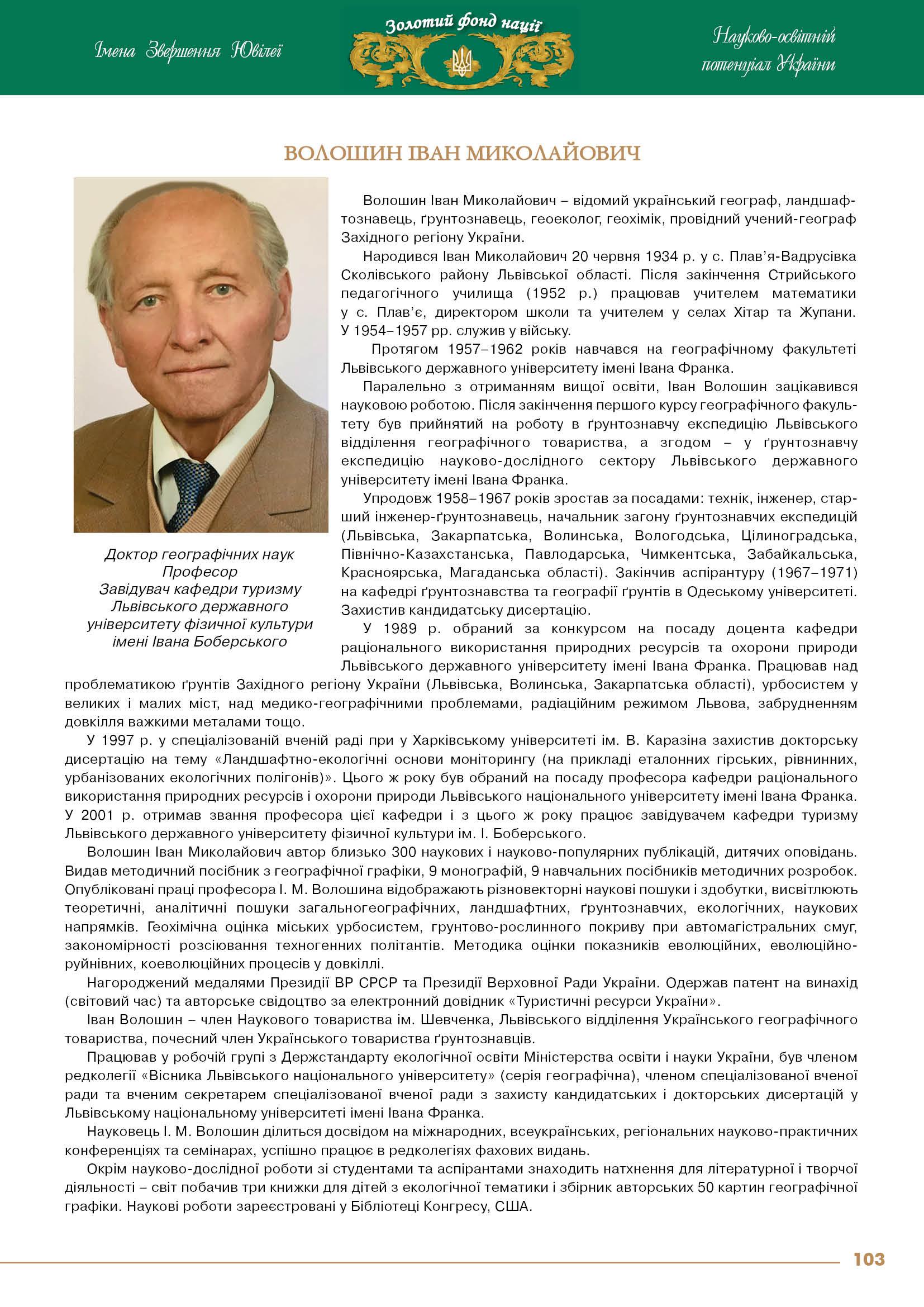 Волошин Іван Миколайович