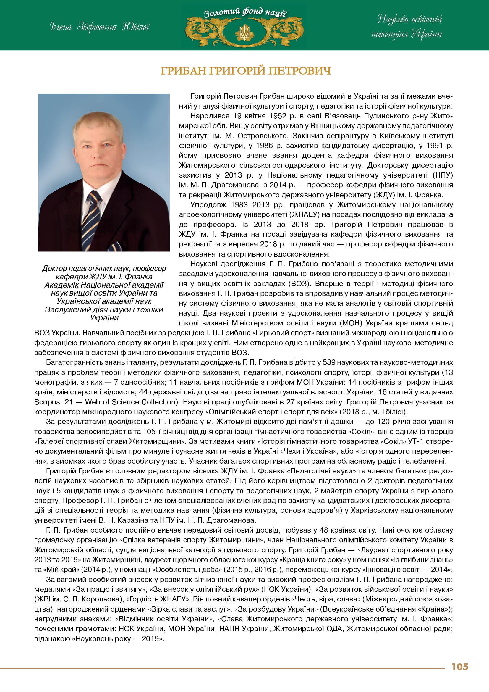 Грибан Григорій Петрович