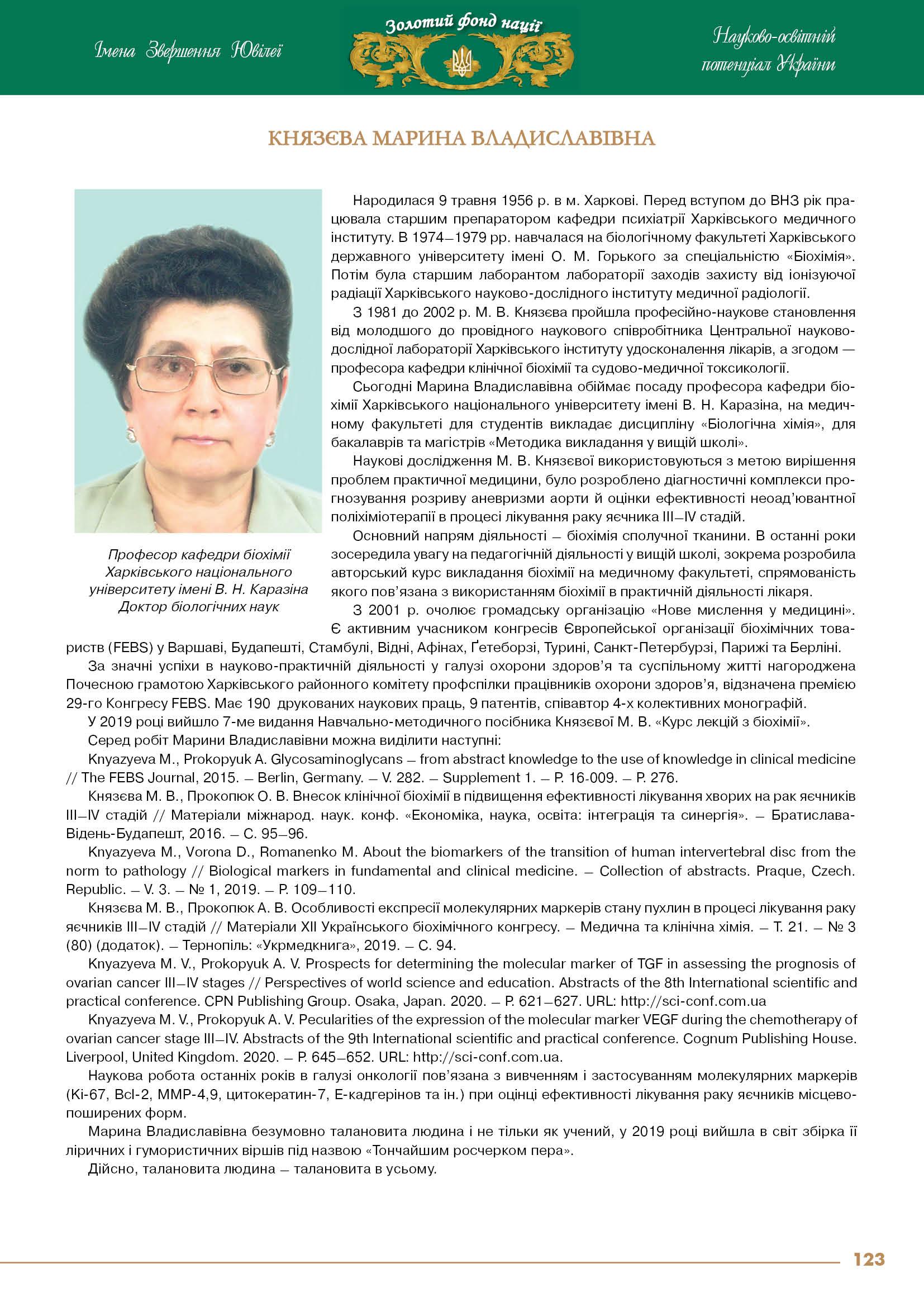 Князєва Марина Владиславівна