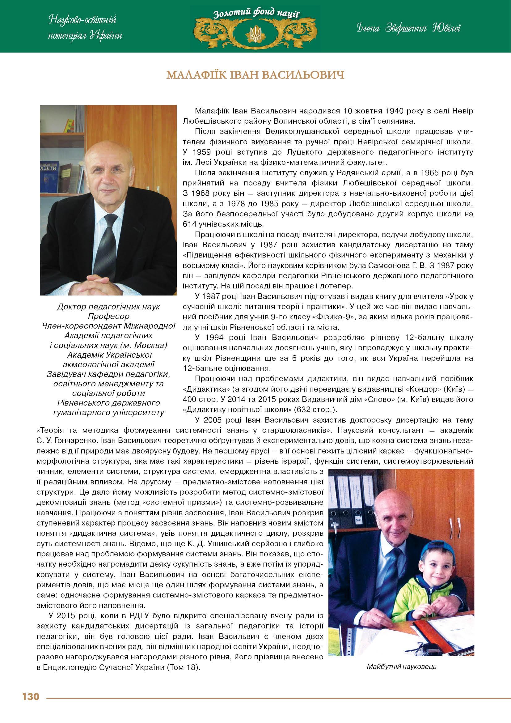 Малафіїк Іван Васильович
