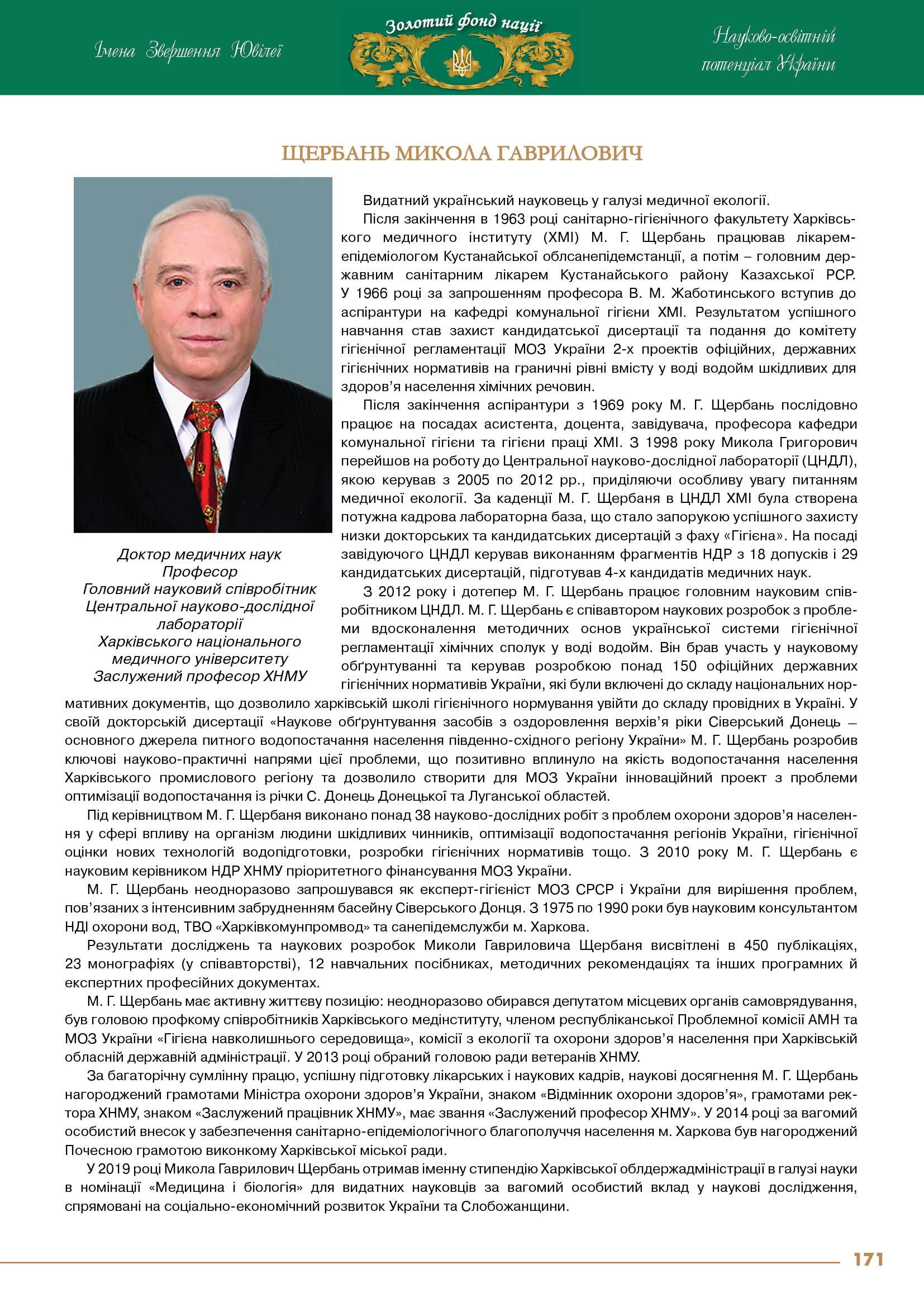 Щербань Микола Гаврилович