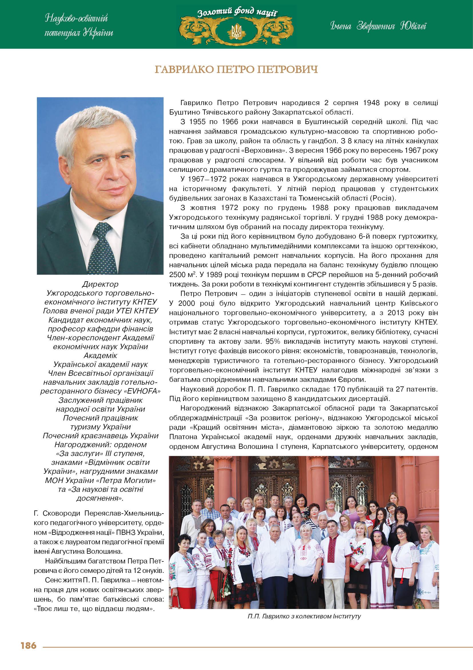 Гаврилко Петро Петрович