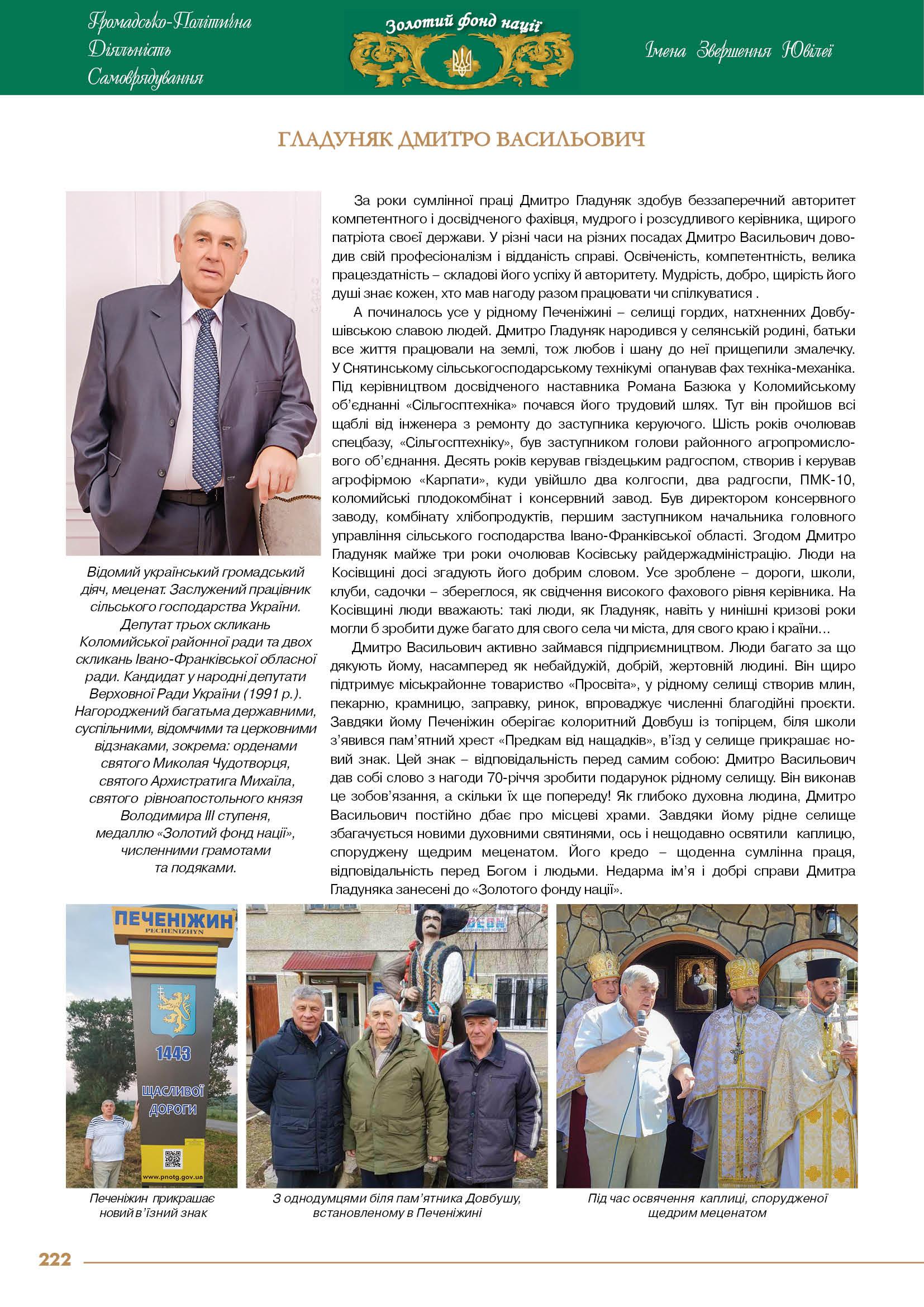 Гладуняк Дмитро Васильович