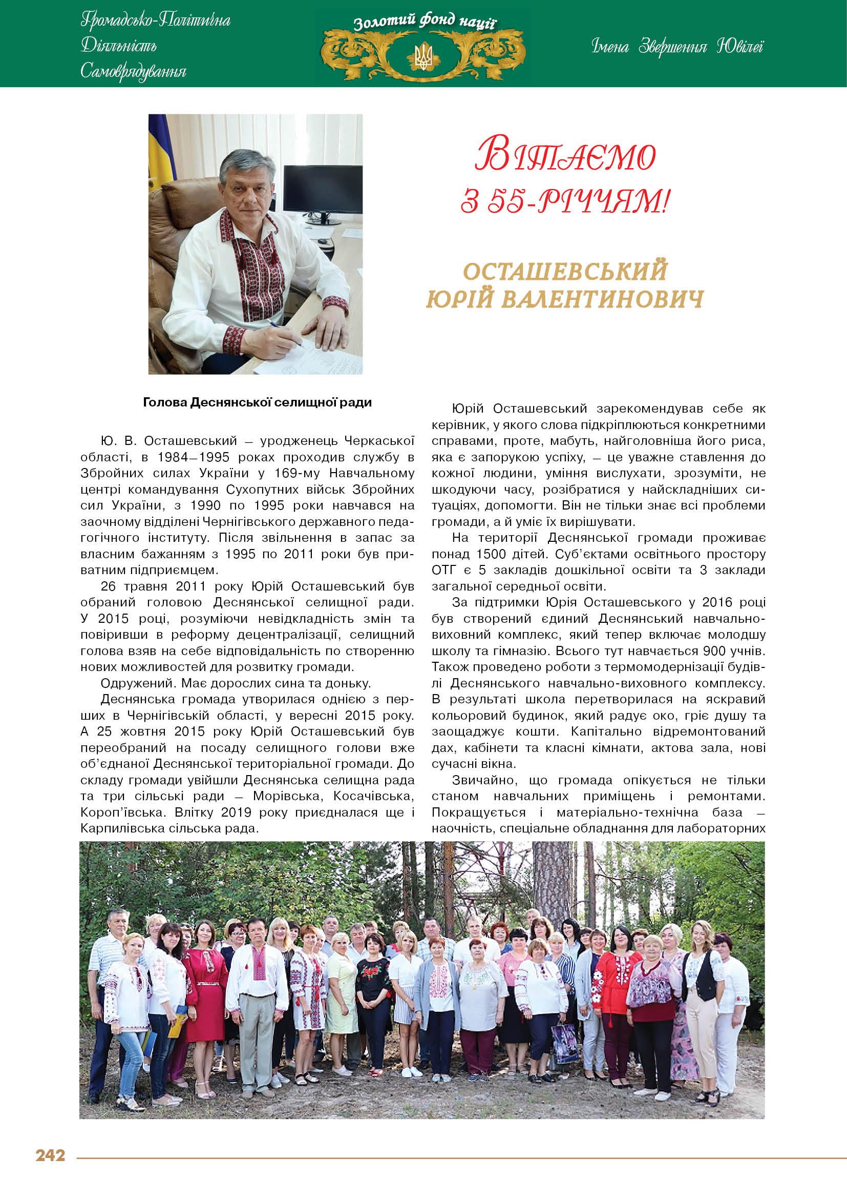 Осташевський Юрій Валентинович