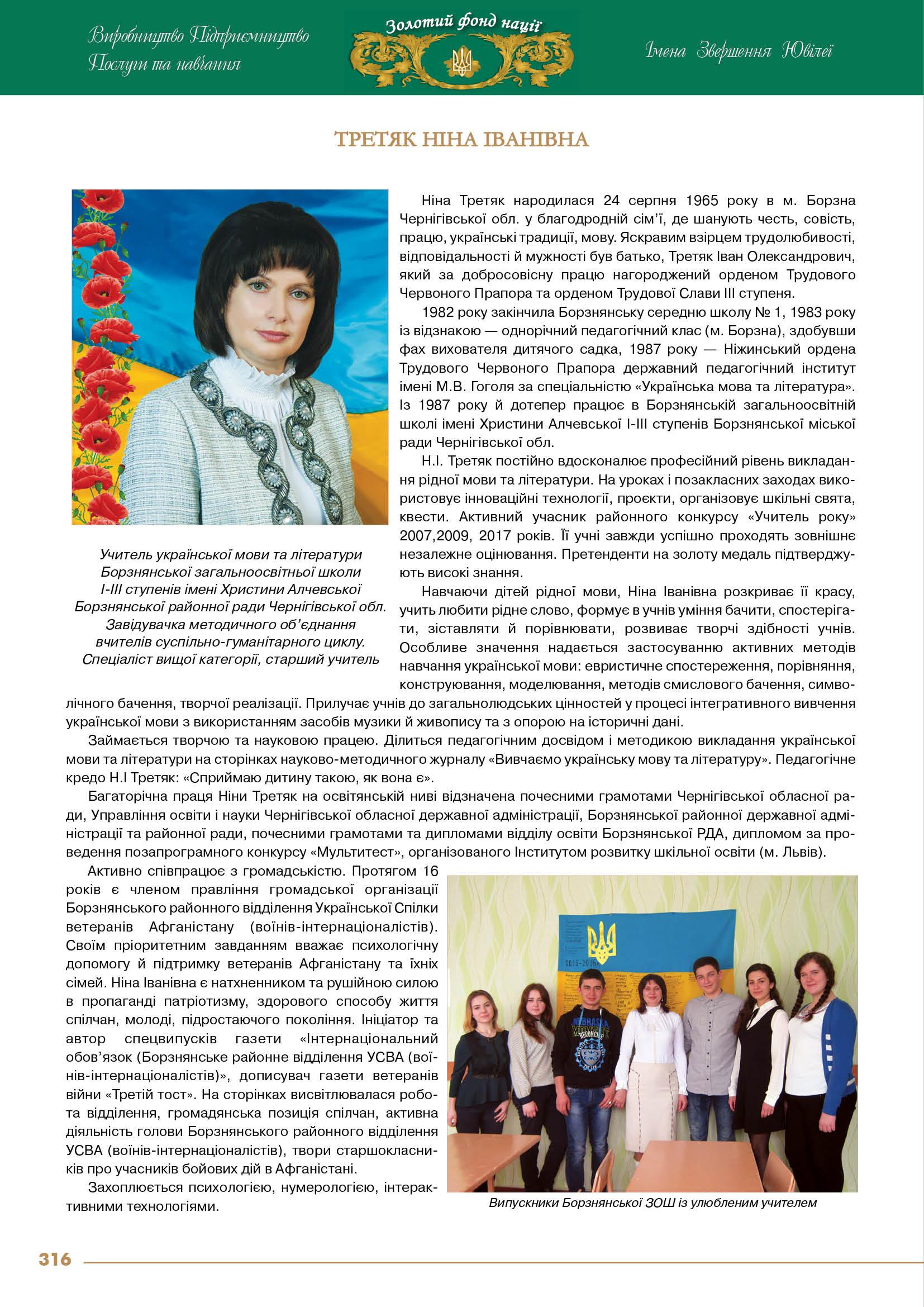 Третяк Ніна Іванівна