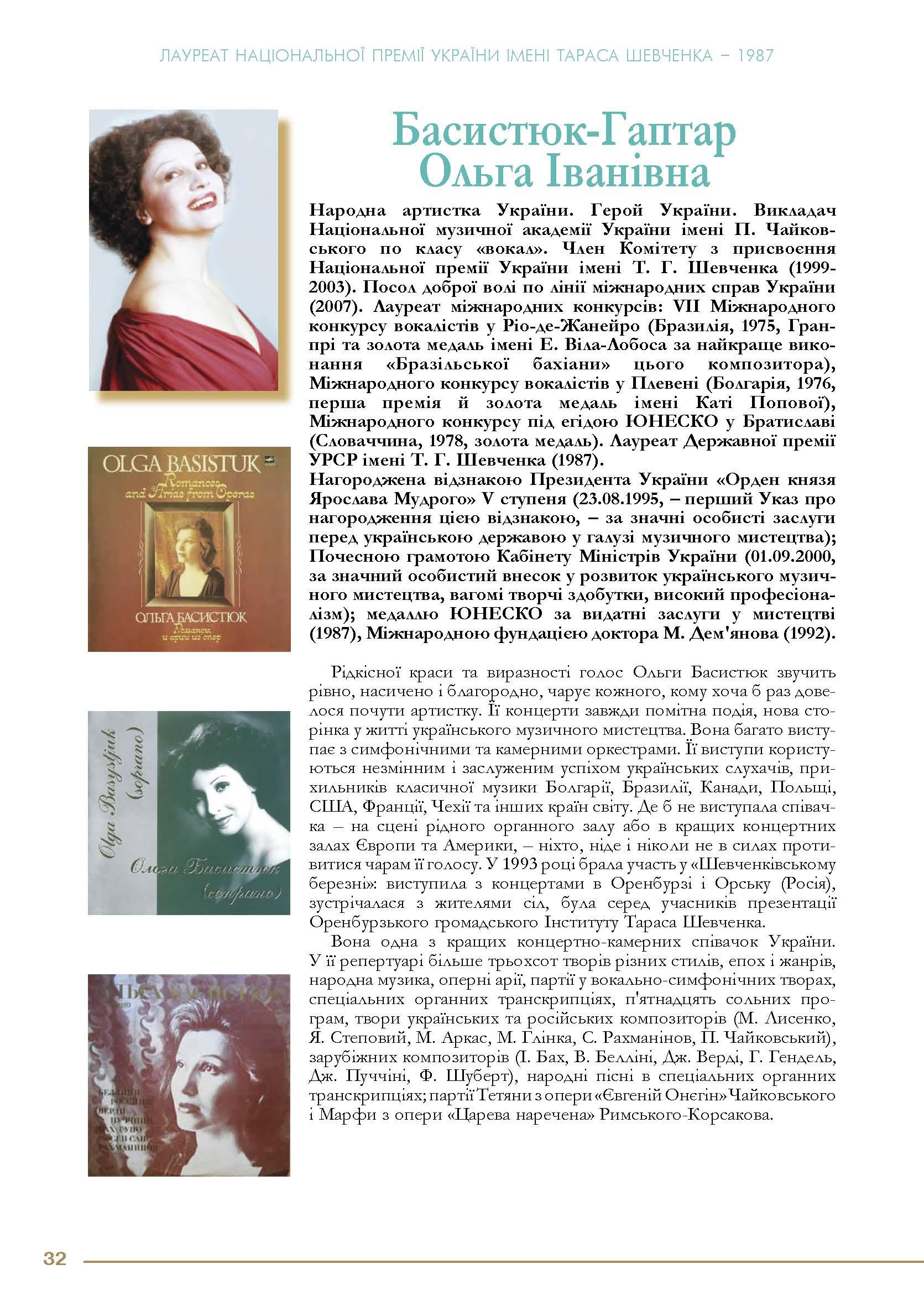 Басистюк-Гаптар Ольга Іванівна