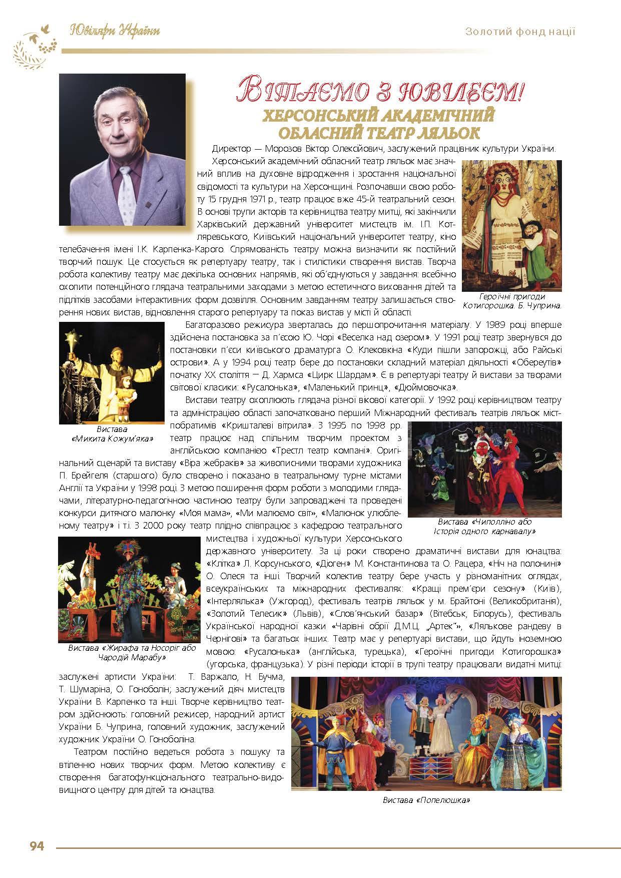 Херсонський академічний обласний театр ляльок - Морозов Віктор Олексійович