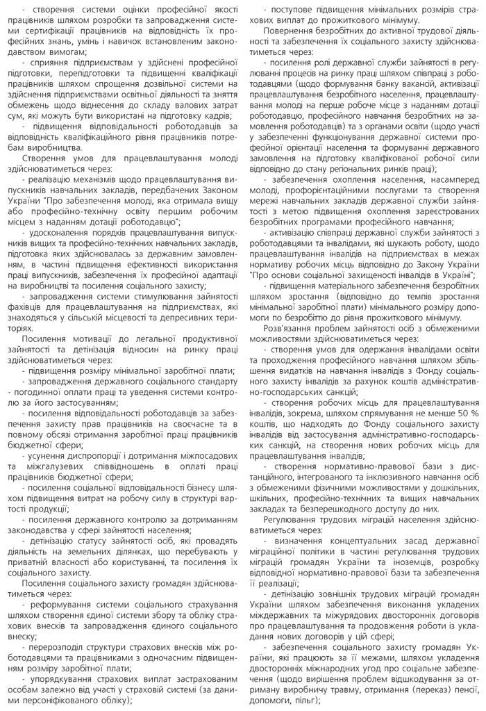 КОНЦЕПЦІЯ ЗАГАЛЬНОДЕРЖАВНОЇ ПРОГРАМИ ЗАЙНЯТОСТІ НАСЕЛЕННЯ НА 2009-2011 РОКИ