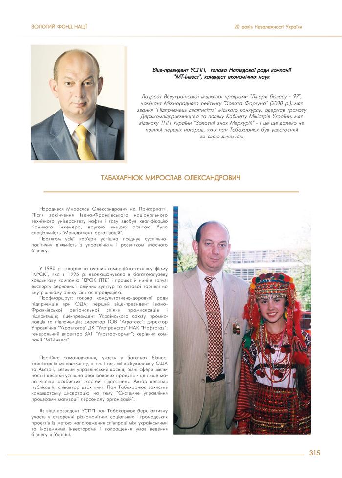 ТАБАХАРНЮК МИРОСЛАВ ОЛЕКСАНДРОВИЧ