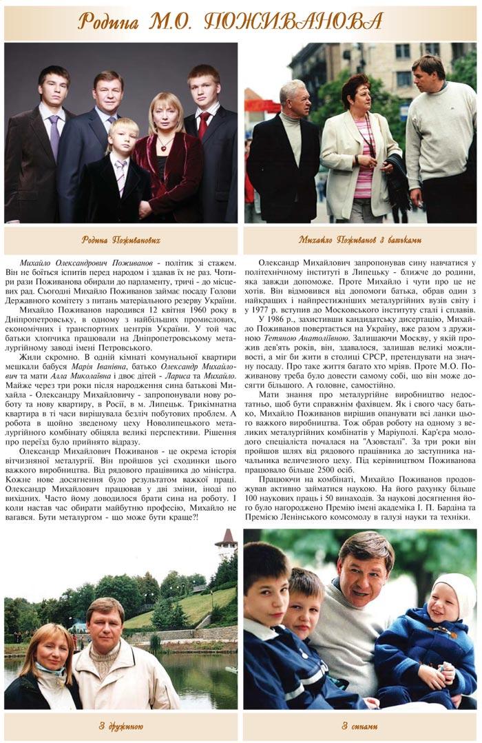 РОДИНА М.О. ПОЖИВАНОВА