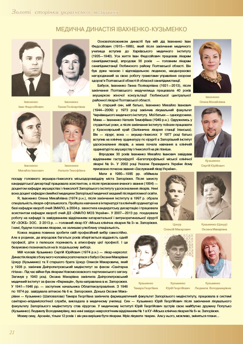 Медична династія Івахненко-Кузьменко