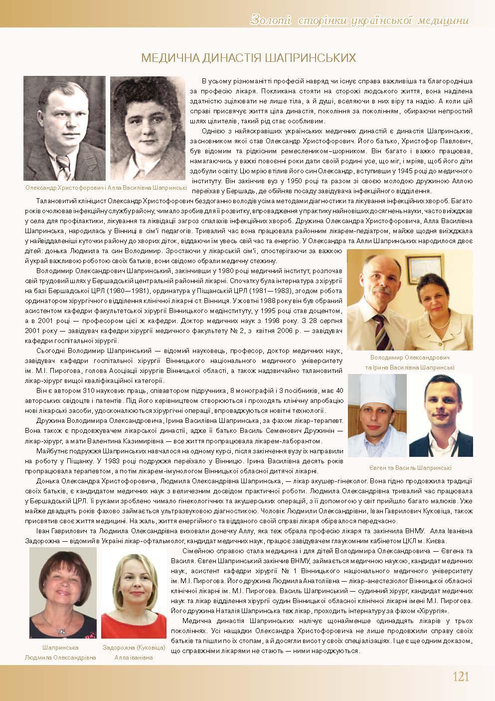 Медична династія Шапринських